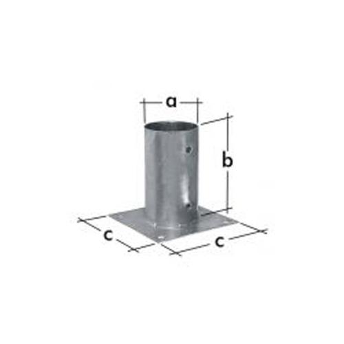 anclaje plano redondo para poste de 8 cm de di metro